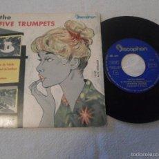 Discos de vinilo: THE FIVE TRUMPETS: EL ARLEQUIN DE TOLEDO + 3. Lote 58536655