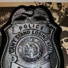 Discos de vinilo: THE POLICE PICTURE DISC VINILO EN FORMA DE CHAPA DE POLICIA. Lote 58539010