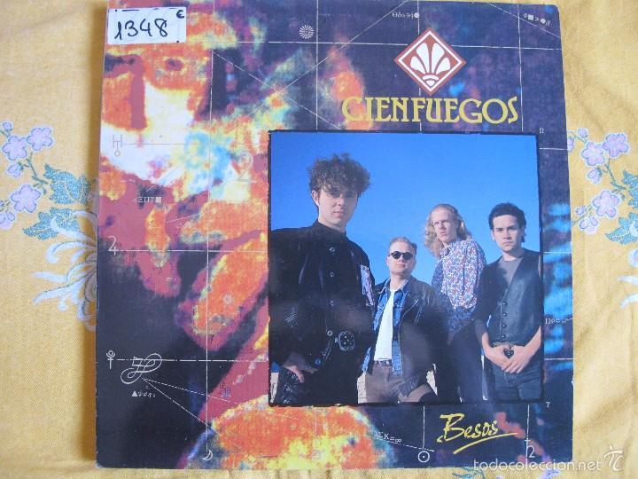 LP - CIENFUEGOS - BESOS (SPAIN, ZAFIRO 1991) (Música - Discos - LP Vinilo - Grupos Españoles de los 90 a la actualidad)