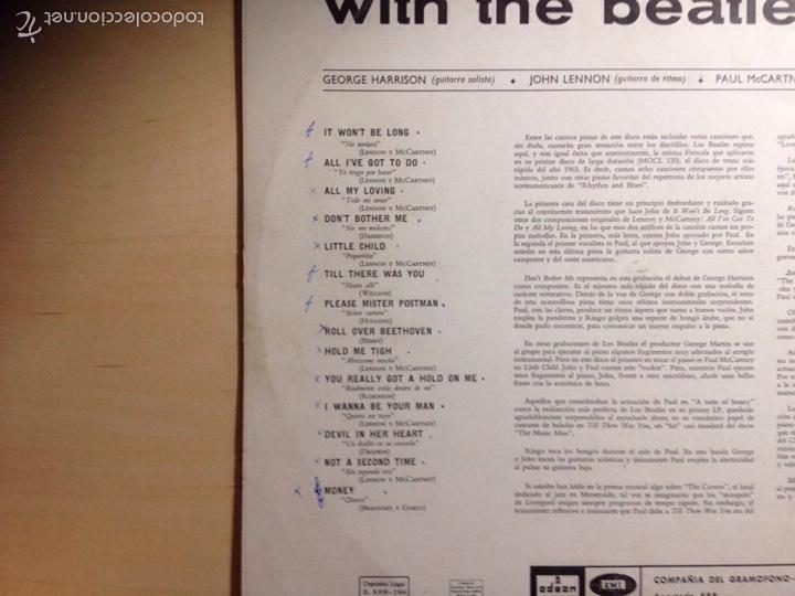 Discos de vinilo: !!! THE BEATLES !!! 3a EDICIÓN WITH THE BEATLES - Foto 4 - 58543741