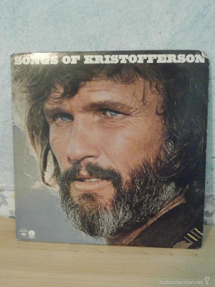 DISCO - VINILO - LP - KRIS KRISTOFFERSON - SONGS OF - COLUMBIA - 1977 - MUY ESCASO (Música - Discos - LP Vinilo - Country y Folk)