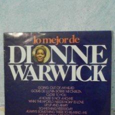 Discos de vinilo: DISCO - VINILO - LP - DIONNE WARWICK - LO MEJOR DE - GM GRAMUSIC - 1974 - MUY ESCASO . Lote 58546124