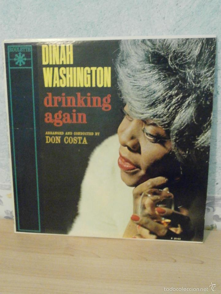 DISCO - VINILO - LP - DINAH WASHINGTON - DRINKING AGAIN - ROULETTE RECORDS INC, 1962 - RARO Y ESCASO (Música - Discos - LP Vinilo - Jazz, Jazz-Rock, Blues y R&B)