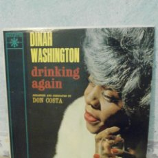 Discos de vinilo: DISCO - VINILO - LP - DINAH WASHINGTON - DRINKING AGAIN - ROULETTE RECORDS INC, 1962 - RARO Y ESCASO. Lote 58546183