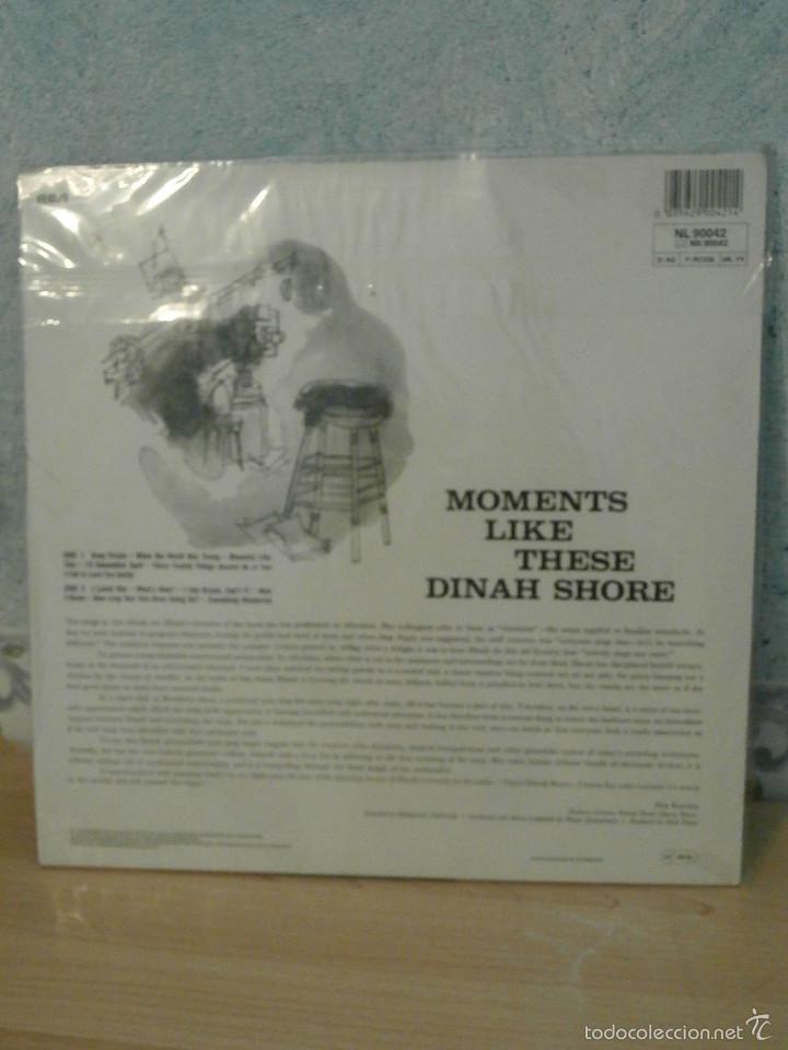 Discos de vinilo: DISCO - VINILO - LP - DINAH SHORE - MOMENTS LIKE THESE - RCA - 1958 - RARO Y ESCASO - Foto 2 - 58546216