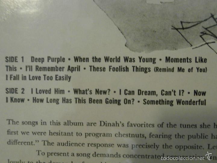 Discos de vinilo: DISCO - VINILO - LP - DINAH SHORE - MOMENTS LIKE THESE - RCA - 1958 - RARO Y ESCASO - Foto 3 - 58546216