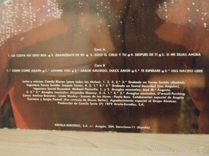 Discos de vinilo: DISCO - VINILO - LP - CAMILO SEXTO - HORAS DE AMOR - ARIOLA - 1979 - - Foto 3 - 58546377