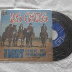 Discos de vinilo: LOS GATOS (LOS GATOS NEGROS) 7´SG TIGGY / CHICAS DEL PENSIONADO (1969) . Lote 58546587