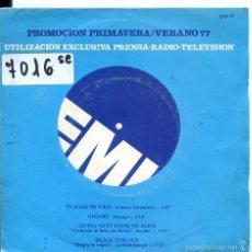 Discos de vinilo: PROMOCION PRIMAVERA.VERANO 77 (VARIOS) LORENZO SANTAMARIA / DYANGO + 2 (EP PROMO 1977). Lote 58547649