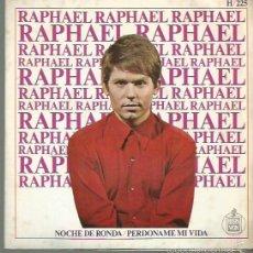 Disques de vinyle: RAPHAEL SINGLE SELLO HISPAVOX AÑO 1967 EDITADO EN ESPAÑA . Lote 58552258
