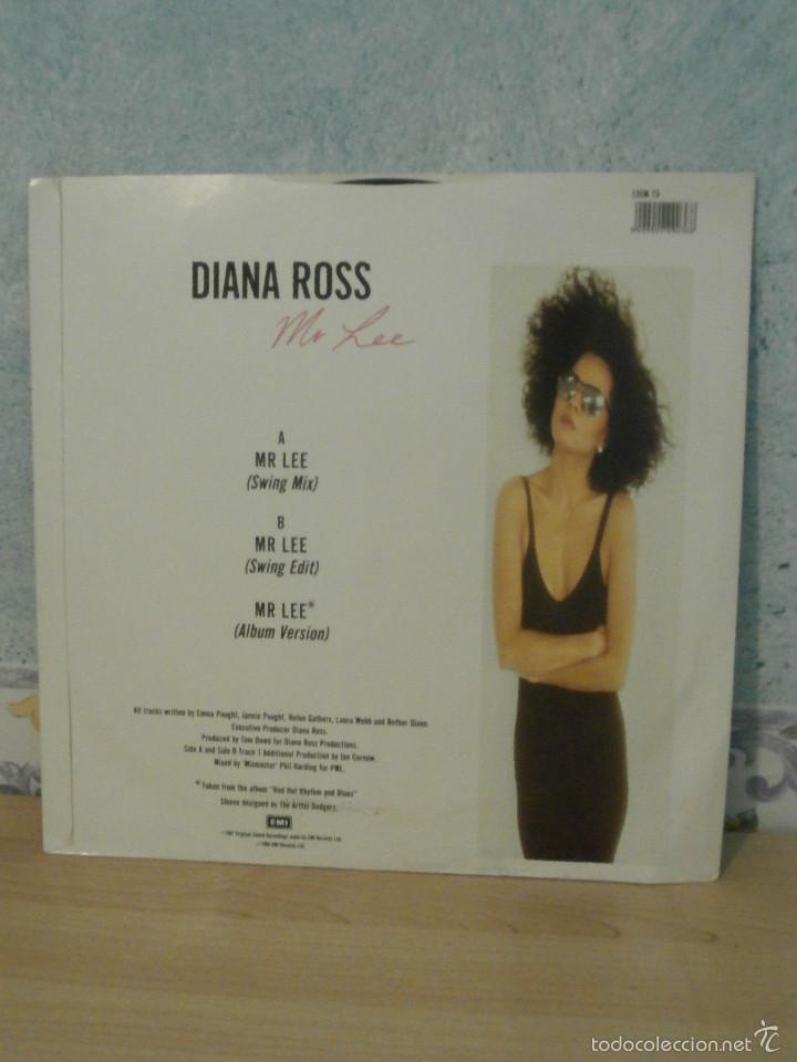 Discos de vinilo: DISCO - VINILO - MAXI SINGLE - DIANA ROSS - MR LEE - DEL ALBUM: RED HOT RHYTHM AND BLUES - 1987, EMI - Foto 2 - 58552562
