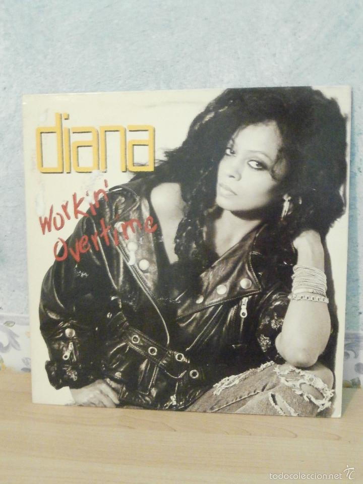 DISCO - VINILO - MAXI SINGLE - DIANA ROSS - WORKING OVERTIME - 1989 - EMI (Música - Discos de Vinilo - Maxi Singles - Pop - Rock Extranjero de los 70)