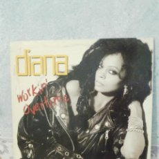 Discos de vinilo: DISCO - VINILO - MAXI SINGLE - DIANA ROSS - WORKING OVERTIME - 1989 - EMI. Lote 58552701