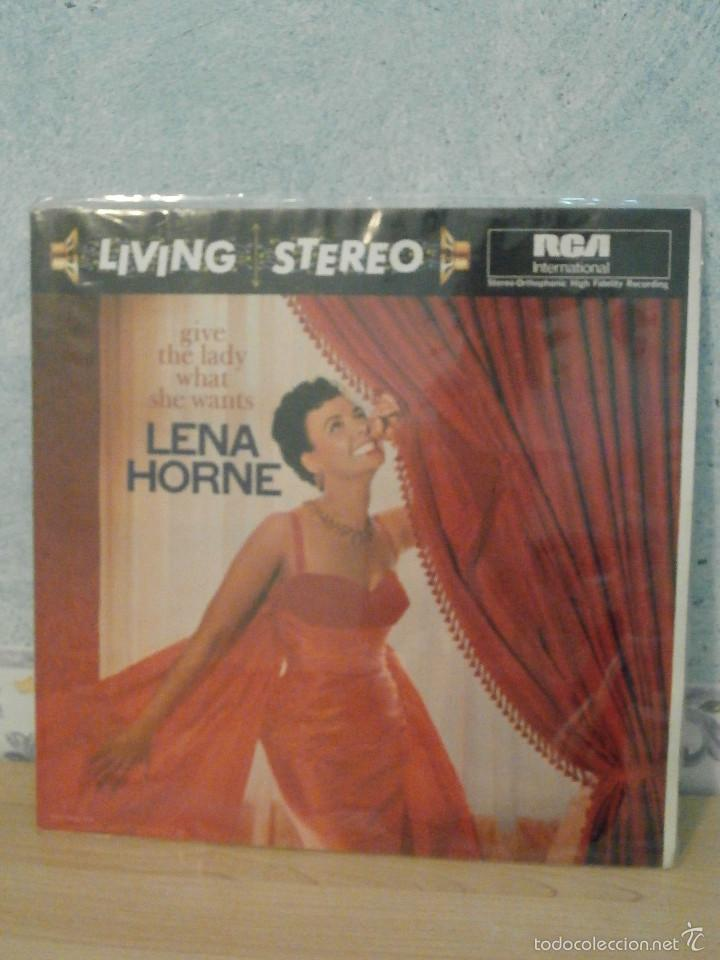DISCO - VINILO - LP - LENA HORNE - GIVE THE LADY WHAT SHE WANTS - RCA - 1960 - (Música - Discos - LP Vinilo - Jazz, Jazz-Rock, Blues y R&B)