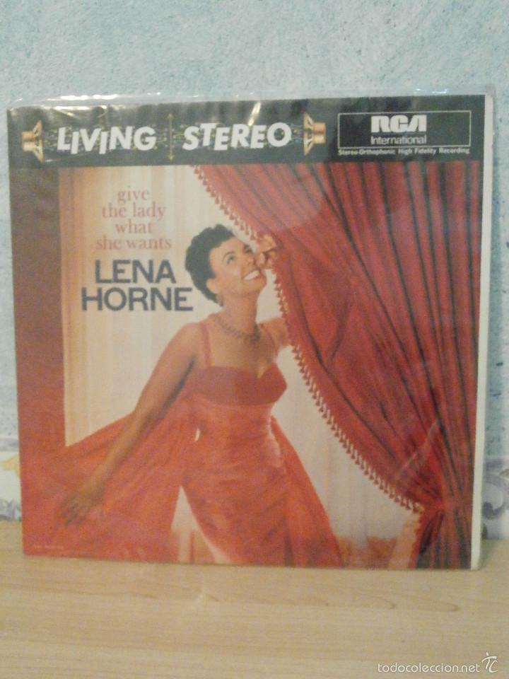 Discos de vinilo: DISCO - VINILO - LP - LENA HORNE - GIVE THE LADY WHAT SHE WANTS - RCA - 1960 - - Foto 2 - 58554805