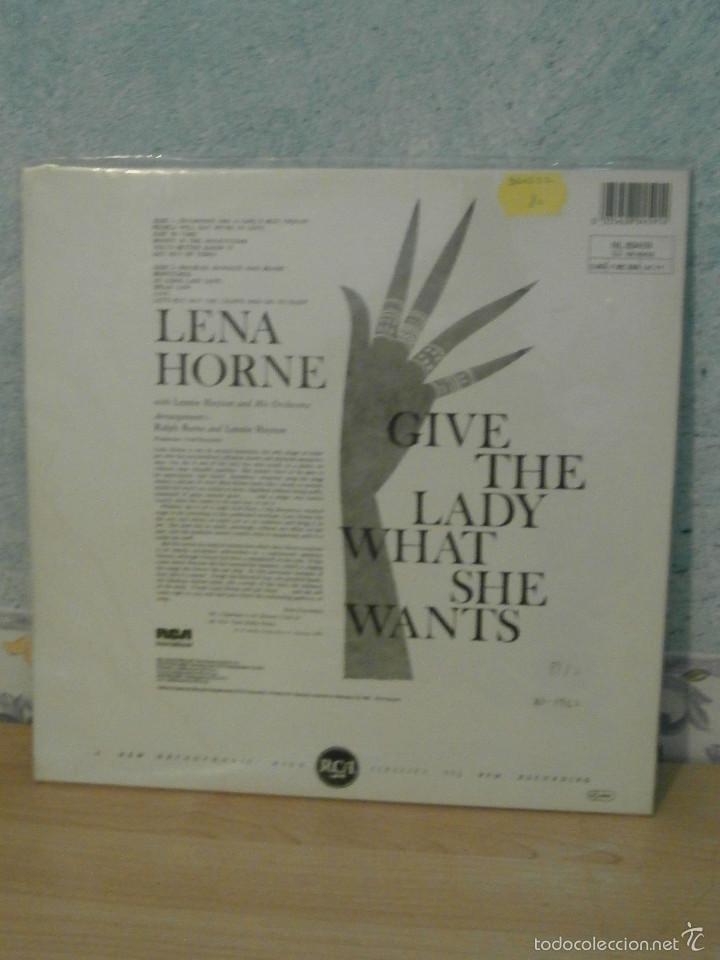 Discos de vinilo: DISCO - VINILO - LP - LENA HORNE - GIVE THE LADY WHAT SHE WANTS - RCA - 1960 - - Foto 3 - 58554805