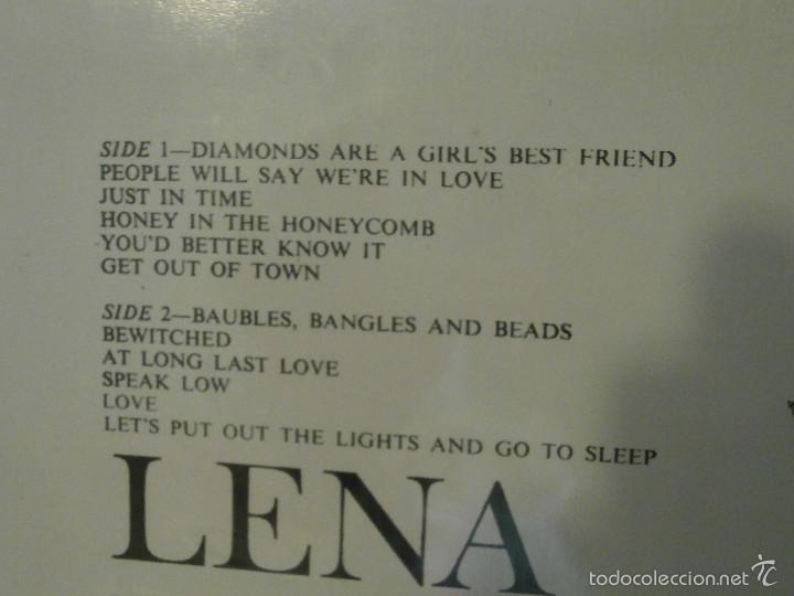 Discos de vinilo: DISCO - VINILO - LP - LENA HORNE - GIVE THE LADY WHAT SHE WANTS - RCA - 1960 - - Foto 4 - 58554805