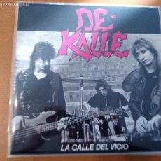 Discos de vinilo: DE KALLE LA CALLE DEL VICIO LP CON INSERTO Y COMIC. Lote 58554923