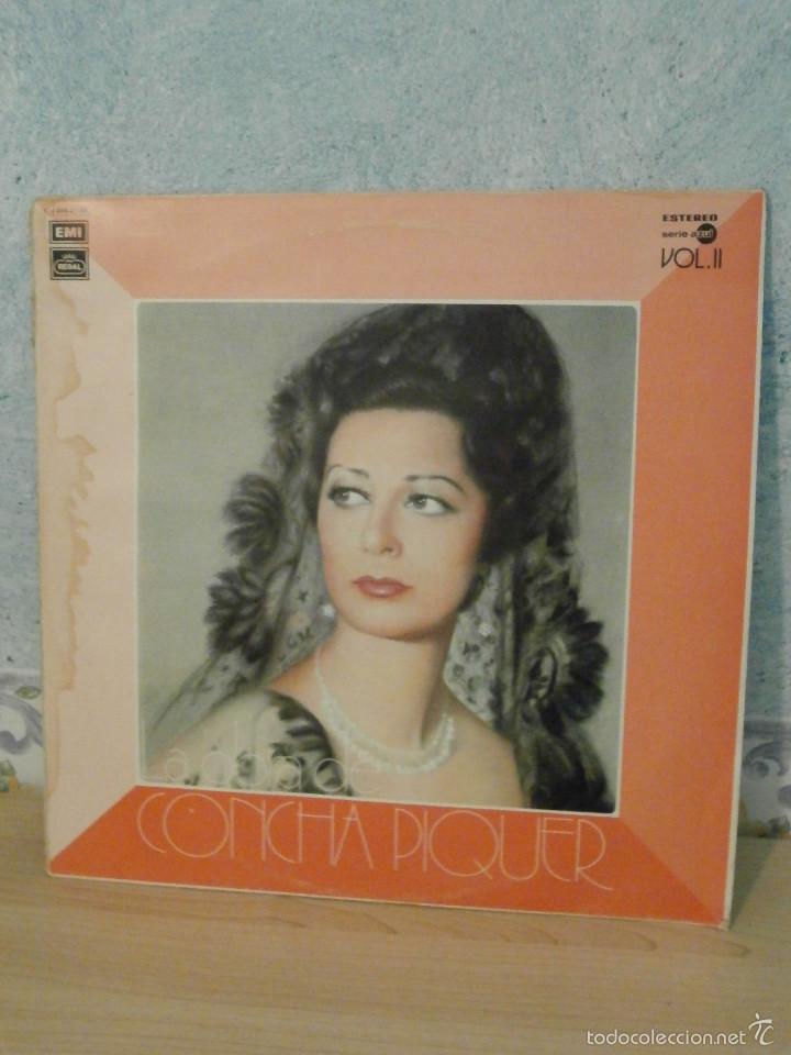 DISCO - VINILO - LP - LA OBRA DE CONCHA PIQUER VOL. II - EMI ODEON REGAL - 1975 (Música - Discos - LP Vinilo - Flamenco, Canción española y Cuplé)