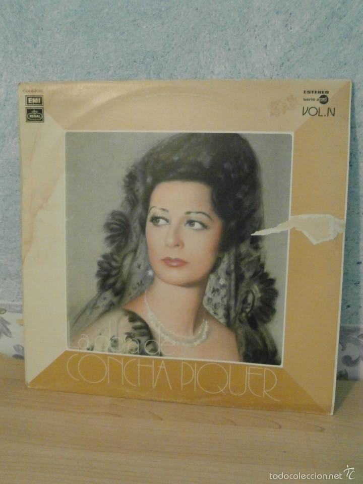 DISCO - VINILO - LP - LA OBRA DE CONCHA PIQUER VOL. IV - EMI ODEON REGAL - 1975 (Música - Discos - LP Vinilo - Flamenco, Canción española y Cuplé)