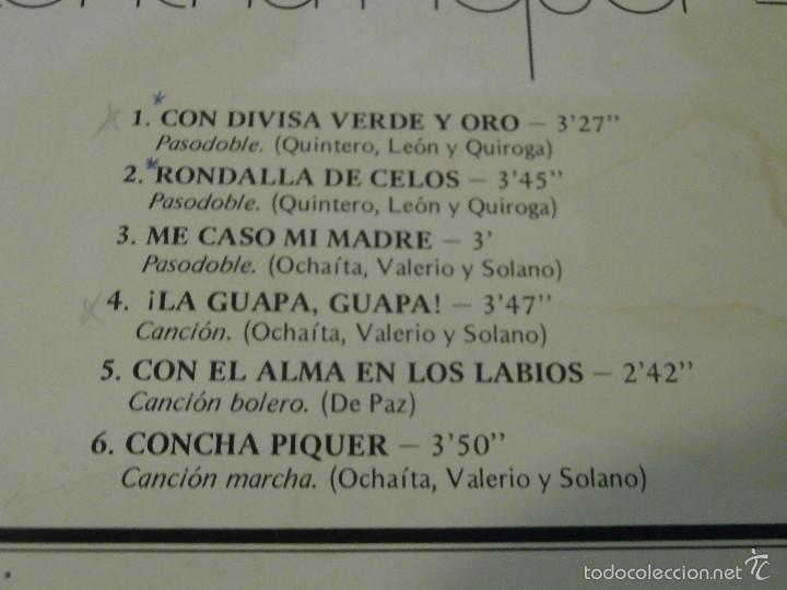 Discos de vinilo: DISCO - VINILO - LP - LA OBRA DE CONCHA PIQUER VOL. IV - EMI ODEON REGAL - 1975 - Foto 4 - 58555765