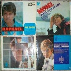 Discos de vinilo: DISCOS (RAPHAEL) 8 DISCOS 32 CANCIONES. Lote 58556095