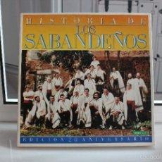 Discos de vinilo: VINILO LP HISTORIA DE LOS SABANDEÑOS, 6 LP'S.EDICION 20 ANIVERSARIO. CANARIAS. IMPECABLES. Lote 58556118