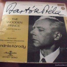 Discos de vinilo: LP DE BARTOK BELA. THE WOODEN PRINCE. EDICION HUNGAROTON (HUNGRIA). PORTADA DOBLE CON LIBRETO.. Lote 58564366