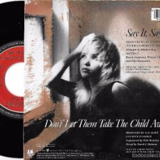 Discos de vinil: E.G. DAILY: SAY IT, SAY IT / DON´T LET THEM TAKE THE CHILD AWAY. Lote 58566933