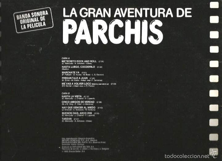 Discos de vinilo: LP PARCHIS : LA GRAN AVENTURA DE PARCHIS ( BANDA SONORA DE CANCIONES) - Foto 2 - 58569544