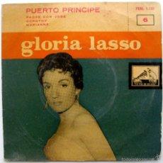Discos de vinilo: GLORIA LASSO - PUERTO PRÍNCIPE +3 - EP LA VOZ DE SU AMO 1958 BPY. Lote 58571592