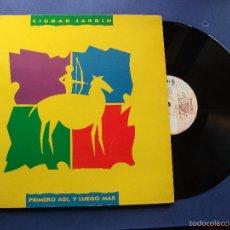 Discos de vinilo: CIUDAD JARDIN PRIMERO ASI, Y LUEGO MAS LP SPAIN PDELUXE 1990 . Lote 58571938