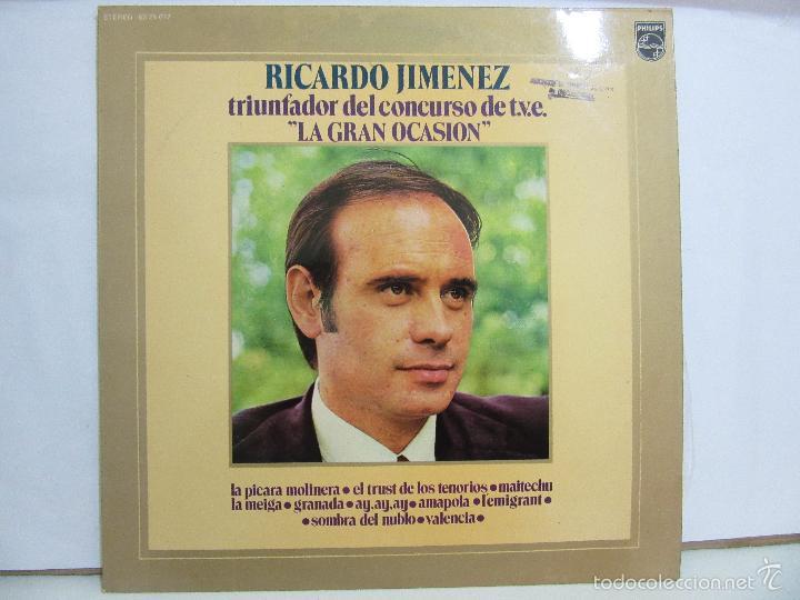 RICARDO JIMENEZ - TRIUNFADOR CONCURSO TVE LA GRAN OCASION - 1972 - NM+/VG+ (Música - Discos - LP Vinilo - Solistas Españoles de los 70 a la actualidad)
