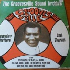 Discos de vinilo: THE GROOVESVILLE SOUL- RAREZAS: –THE O'JAYS, HOLIDAYS, STEVE MANCHA, PAT LEWIS, VER +... LP 1997 UK. Lote 58580813