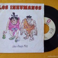 Disques de vinyle: INHUMANOS, LOS - UNA PAREJA FELIZ (ZAFIRO) SINGLE PROMOCIONAL. Lote 58589757