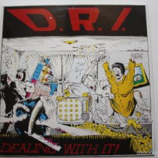Discos de vinilo: D.R.I.- DEALING WITH IT!- HOLLAND LP 19888 + INSERT- EN BUEN ESTADO.. Lote 58591588