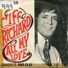 Vinyl-Schallplatten - CLIFF RICHARD / ALL MY LOVE / CONCRETE AND CLAY (SINGLE 1968) - 58591687