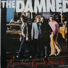 Discos de vinilo: THE DAMNED- MACHINE GUN ETIQUETTE- SPANISH FIRST PRESS 1979 + INSERT- EXC. ESTADO.. Lote 58591703