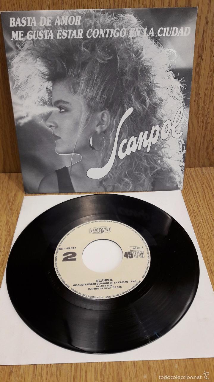 SCANPOL. BASTA DE AMOR. SINGLE / PERFIL - 1987 / CALIDAD LUJO. ****/**** (Música - Discos - Singles Vinilo - Electrónica, Avantgarde y Experimental)