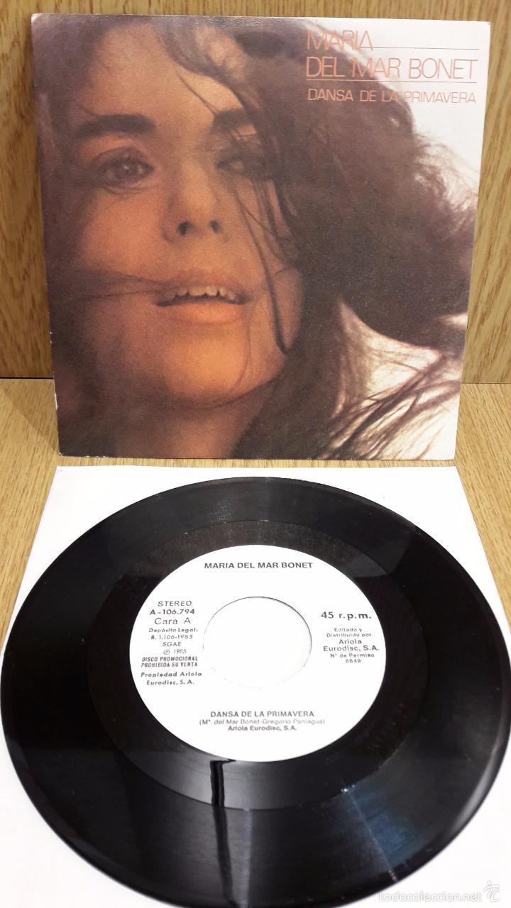 MARIA DEL MAR BONET. DANSA DE LA PRIMAVERA. SINGLE-PROMO / ARIOLA - 1985 / LUJO. ****/**** (Música - Discos - Singles Vinilo - Cantautores Españoles)