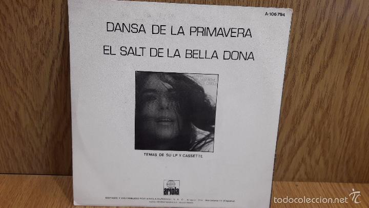 Discos de vinilo: MARIA DEL MAR BONET. DANSA DE LA PRIMAVERA. SINGLE-PROMO / ARIOLA - 1985 / LUJO. ****/**** - Foto 2 - 58595296
