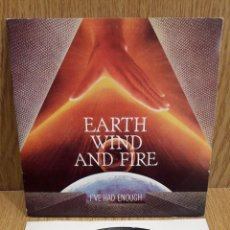 Discos de vinilo: EARTH WILD AND FIRE--IVE HAD ENOUGH. SINGLE / CBS - 1981 / LUJO. ****/****. Lote 58596022
