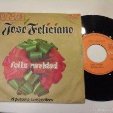 Discos de vinil: MUSICA SINGLE JOSE FELICIANO FELIZ NAVIDAD OJ.C . Lote 58596844