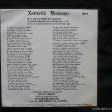 Discos de vinilo: XERARDO MOSCOSO - LEVA OS AFORROS PRO BANCO / ACCIÓN GALEGA - GALEGO - EMI 1977. Lote 58597103