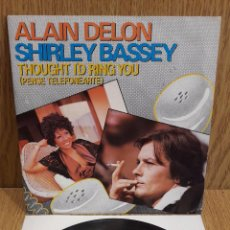 Discos de vinilo: ALAIN DELON / SHIRLEY BASSEY. TROUGHT I'D RING YOU. SINGLE / ZAFIRO - 1983 / LUJO. ****/****. Lote 58597127