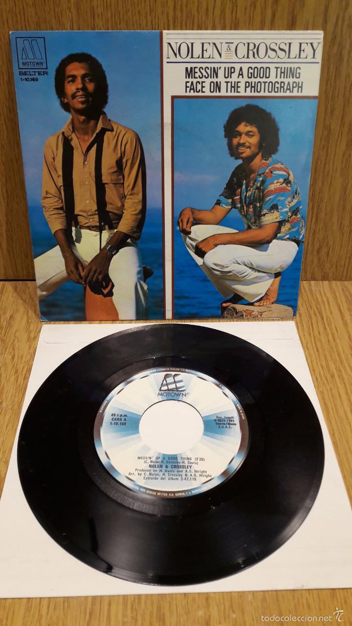 NOLEN & CROSSLEY. MESSIN' UP A GOOD THING. SINGLE / MOTOWN . 1981 / CALIDAD LUJO. ****/**** (Música - Discos - Singles Vinilo - Funk, Soul y Black Music)