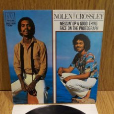 Discos de vinilo: NOLEN & CROSSLEY. MESSIN' UP A GOOD THING. SINGLE / MOTOWN . 1981 / CALIDAD LUJO. ****/****. Lote 56467358