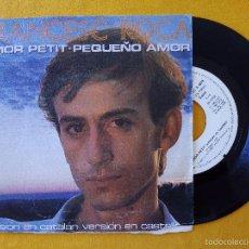 Discos de vinilo: FRANCESC ROCA, PEQUEÑO AMOR + AMOR PETIT (CBS) SINGLE PROMOCIONAL. Lote 58603809