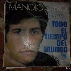 Discos de vinilo: MANOLO OTERO TODO EL TIEMPO DEL MUNDO. Lote 58613243