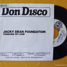 Discos de vinilo: JACKY DEAN FOUNDATION, CARAVAN OF LOVE (DON DISCO) SINGLE PROMOCIONAL ESPAÑA. Lote 58614540